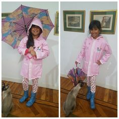 #outfitideas #outfitoftheday #rainyday #raincoat  #rainboots #umbrella #pink  #kids #DisneyPrincess