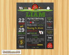 First Birthday Chalkboard Poster Farm Theme by ThePaperGiraffeShop