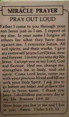 Miracle Prayer - Thank You Jesus Prayer Scriptures, Bible Prayers, Catholic Prayers, Faith Prayer, God Prayer, Prayer Quotes, Power Of Prayer, Faith In God, Forgiveness Prayer