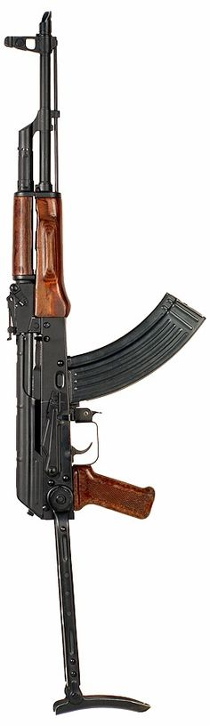 """AKMS I've fired these in the Mid-East. They are exceptionally reliable.and in my opinion the truest form of what should be considered a """"Weapon of Mass Destruction"""" Assault Weapon, Assault Rifle, Weapons Guns, Guns And Ammo, Tactical Rifles, Firearms, Battle Rifle, Weapon Of Mass Destruction, Fire Powers"""