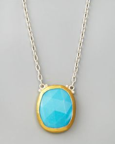 Turquoise Pendant Necklace by Gurhan at Neiman Marcus.