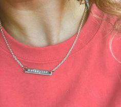 Silver Bar Name Necklace