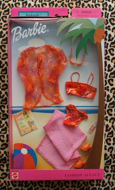 Barbie Fashion Avenue Clothes Splash 54971 2002 Beach Swimsuit | eBay