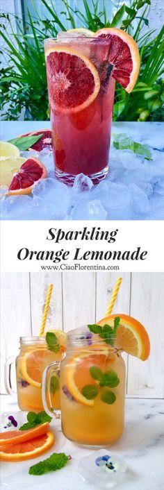 Sparkling Orange Lemonade Recipe  | http://CiaoFlorentina.com @CiaoFlorentina