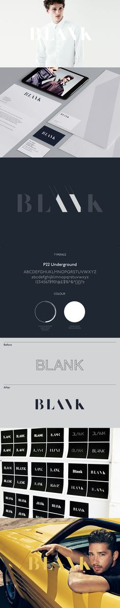 Blank branding by Moving Brands