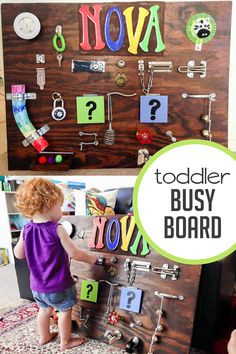 Sometimes toddlers need to just be busy.This is a crazy awesome toddler busy board that a reader created for her daughter. It's supernova!