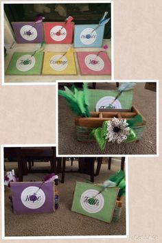 MOPS 2014-2015 centerpiece idea. Be You Bravely theme.