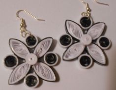 Black and White handmade paper earrings Wearable Paper art Paper Earrings, Drop Earrings, Black And White Earrings, Quilling Jewelry, Paper Art, Handmade, Papercraft, Hand Made, Drop Earring