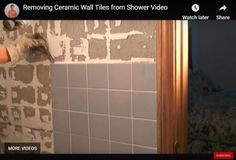 How to remove tile adhesive without ruining walls (answer ...