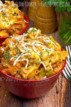 Olla de cocción lenta 3-queso tortellini - La medianoche del panadero