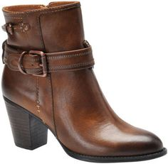 ShopStyle: SOFFT Wyoming Leather Ankle Booties with Buckle