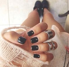 Black with Diamond Nails. Maybe not dionda but the black is cute!