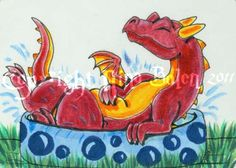Beat The Heat Dragon ACEO by The-GoblinQueen.deviantart.com on @DeviantArt