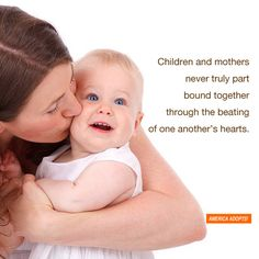"""Children and parent never truly part bound together through the beating of one another's heart."" So sweet!"