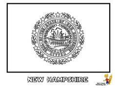 Massachusetts State Flag Coloring Page SEE The Official Photograph To Match Colors You Can Printout This Coloringpage Now