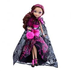 Ever After High Doll~Briar Beauty~Legacy Day~Black /& Pink Rose Thorn Shoes