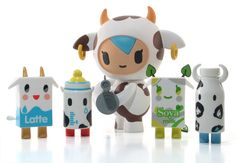 Focus on: Kawaii Milk Packaging Japan Kawaii, Milk Packaging, Doodle Inspiration, Cute Toys, Vinyl Toys, Designer Toys, Toy Boxes, Toy Store, Vinyl Figures