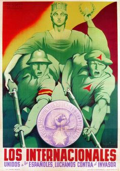 Internationalists, unite with Spanish people. (International Brigades, 1937)
