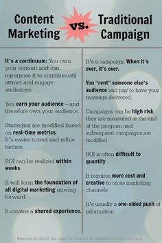 content marketing vs traditional marketing graphic cursive1 How Does Content Marketing Compare With a Traditional Campaign?
