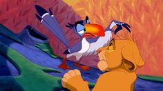 """Well, I've never seen a king of beasts with quite so little hair."" ― Zazu, The Lion King Lion King Quiz, Lion King Timon, The Lion King 1994, Simba And Nala, Lion King Movie, Disney Hair, Disney Pixar, Walt Disney, Disney Films"