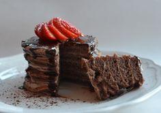 Sjokolade-pannekaketårn (Bakekona)