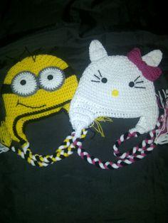 minion crochet hat  hello kitty crochet hat