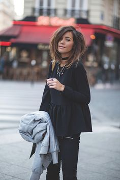 lbuj-07 - LOOKING JUST FABULOUS IN ALL BLACK & CARRYING HER 'MUST HAVE,' DENIM JACKET!