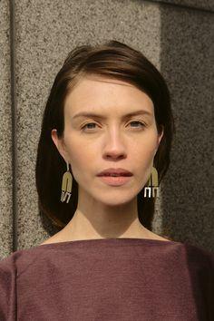 Arc + Line Earrings