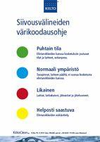 Siivousvälineiden värikoodausohje