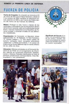 Fuerza de Policía  (a), FFDD de Panamá, 1987.