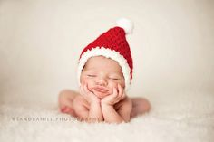 Baby, christmas, infant photography, santa claus