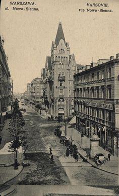 Warszawa przedwojenna - ulica Nowo-Sienna