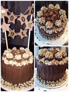 Chocolate peanutbutter bomb cake