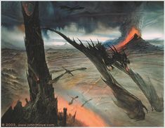 Barad-dűr by John Howe (concept for The LotR movie)