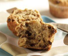 Make Pumpkin muffin recipe using banana and bran to make Chocolate Chip Banana Muffins