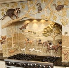 Gooseneck Tile Kitchen Backsplash