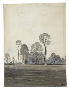 Ploughed Fields at Iden, Paul Nash [1929]