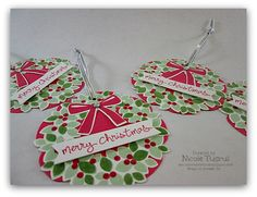 Wondrous Wreath Gift Tags by nwt2772 - Cards and Paper Crafts at Splitcoaststampers