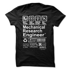 Hot Seller - MECHANICAL RESEARCH ENGINEER T-Shirts, Hoodies (20.99$ ==► Shopping Now to order this Shirt!)