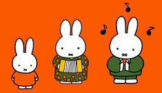 Miffy making music by Dick Bruna Digital Illustration, Graphic Illustration, Miffy, Japanese Poster, Line Friends, Character Development, Texture Design, Design Crafts, Illustrators