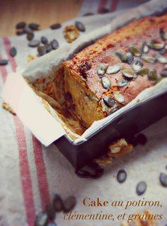 Cake au potiron, noix et clémentine