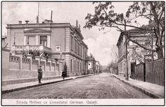 Strada Holban - Consulatul German Galați în anul 1900 • Știrile Galațiului Romania, German, Louvre, Building, Travel, Painting, Deutsch, Viajes, German Language
