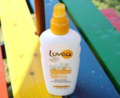 Spray solaire SPF 50 - Lovea: il mio solare per questa estate. Niente ingredienti dannosi, bello asciutto ed efficace!