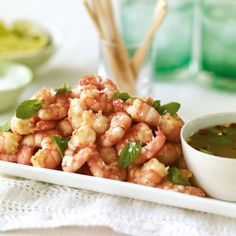 This pan-fried king prawns with Thai dipping sauce recipe makes a delicious dinner party starter or smart canape