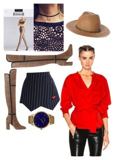 """""""WildWildWest"""" by desislava0513 ❤ liked on Polyvore featuring Sigerson Morrison, Isabel Marant, Chicwish, Wolford, Billabong and MVMT"""