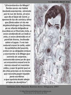 Palabras de novela: RAYUELA de Julio Cortázar. Por Gabriela Mariel Arias. Words, Julio Cortazar, Silhouettes, Entryway, Novels, Libros, Rue De Seine, Horse