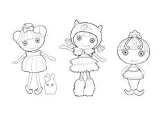 Celebrate the season with this Lalaloopsy hoilday coloring