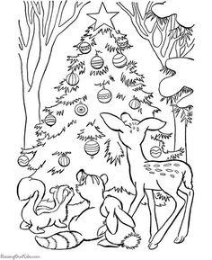 Desenhos E Riscos De Arvores De Natal Para Colorir Desenhos E