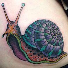 Snail Tattoo by Fist Full Of Metal Tattoo Alien Tattoo, Snail Tattoo, Body Art Tattoos, Tatoos, Mushroom Tattoos, Snail Art, Tattoo Care, Metal Tattoo, Mushroom Art