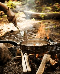 Outdoor Cooking Tips - useful information about cooking without electricity -- and preparing in case of a long term power outage.